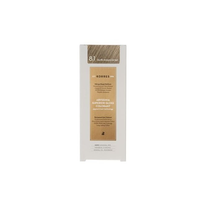 KORRES Abyssinia Superior Gloss Colorant 50ml - 8.1 Light ash Blonde