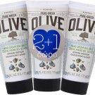 3 x KORRES Pure Greek Olive Hand Cream Sea Salt 75ml
