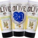 3 x Korres Pure Greek Olive Hand Cream Bergamot 75ml