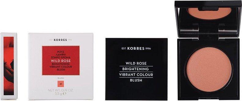 KORRES Wild Rose Brightening Vibrant Colour Blush 5.5gr 42 Luminous Apricot