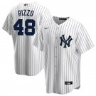 Anthony Rizzo #48 New York Yankees White Mens/Youth Jersey Cool Base Stitched