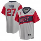 Mike Trout #27 Los Angeles Angels Gray Road Little League Classic Mens Jersey Replica Stitched