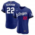 Men's Clayton Kershaw Los Angeles Dodgers 2021 City Connect Flex Base Stitched Jersey - LosDodgers