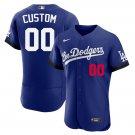 Men's Custom Los Angeles Dodgers 2021 City Connect Flex Base Stitched Jersey - LosDodgers
