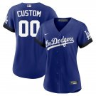 Women's Custom Los Angeles Dodgers 2021 City Connect Stitched Jersey - LosDodgers