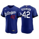 Men's #42 Jackie Robinson Los Angeles Dodgers Royal City Connect Jersey Stitched - LosDodgers