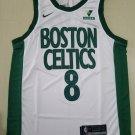 Men's #8 Kemba Walker Boston Celtics White City Edition Jersey Stitched
