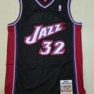 Men's #32 Karl Malone Utah Jazz Black Hardwood Classics 1998-99 Jersey Stitched