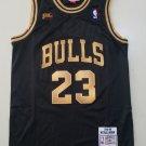 Men's #23 Michael Jordan Chicago Bulls Black Classics 1997-98 Jersey Stitched