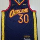 Men's #30 Stephen Curry Golden State Warriors Navy City Edition Jersey Stitched