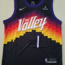 Men's #1 Devin Booker Phoenix Suns Black City Edition The Valley Jersey Stitched