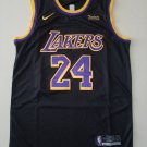 Men's #24 Kobe Bryant Los Angeles Lakers Black Earned Edition Jersey Stitched
