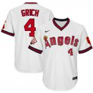 Men's #4 Bobby Grich Los Angeles Angels White 1970 Throwback Jersey Retro Stitched