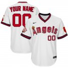 Men's Custom Los Angeles Angels White 1970 Throwback Jersey Retro Stitched