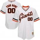 Men's Custom San Francisco Giants White Throwback Jersey Retro Stitched