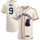 Men's #9 Brandon Belt San Francisco Sea Lions Jersey Throwback 1946 Home Cream Stitched