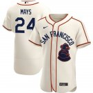 Men's #24 Willie Mays San Francisco Sea Lions Jersey Throwback 1946 Home Cream Stitched