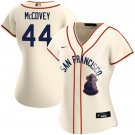 Women's #44 Willie McCovey San Francisco Sea Lions Jersey Throwback 1946 Home Cream Stitched