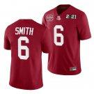 Men's #6 DeVonta Smith Alabama Football National Champions Patch Crimson Jersey Stitched