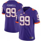 Men's #99 Clelin Ferrell Clemson Tigers Game NCAA Purple All Stitched Stitched