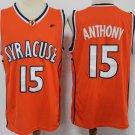 Men's #15 Carmelo Anthony Syracuse NCAA Basketball Orange Jersey Stitched