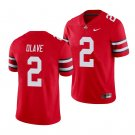 Men's #2 Chris Olave Ohio State Buckeyes College Football Scarlet Jersey Stitched