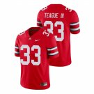 Men's #33 Master Teague Iii Ohio State Buckeyes College Football Scarlet Jersey Stitched