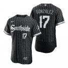Men's #17 Luis Gonzalez Chicago White Sox Black City Connect Southside Jersey Flex Base Stitched