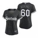 Women's #60 Dallas Keuchel Chicago White Sox Black City Connect Southside Jersey Stitched