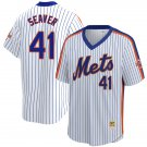 Men's #41 Tom Seaver New York Mets White Home 1986 Throwback Baseball Jersey Stitched