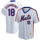 Men's #18 Darryl Strawberry New York Mets White Home 1986 Throwback Baseball Jersey Stitched