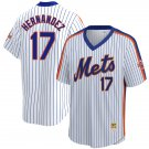Men's #17 Keith Hernandez New York Mets White Home 1986 Throwback Baseball Jersey Stitched