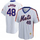 Men's #48 Jacob deGrom New York Mets White Home 1986 Throwback Baseball Jersey Stitched