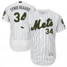 Men's #34 Noah Syndergaard New York Mets White Flex Base Jersey Stitched