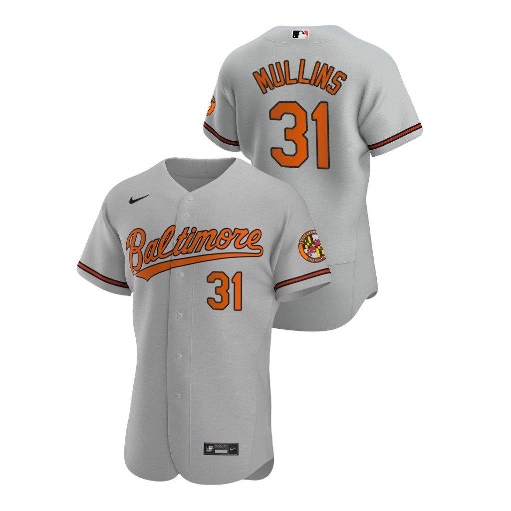 Men's Baltimore Orioles #31 Cedric Mullins Gray Road Jersey Stitched Flex Base