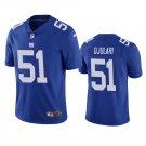 Men's #51 Azeez Ojulari New York Giants Royal Vapor Limited Football Jersey Stitched