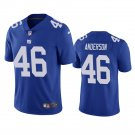 Men's #46 Ryan Anderson New York Giants Royal Vapor Limited Football Jersey Stitched