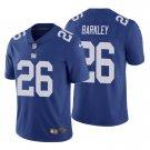 Men's #26 Saquon Barkley New York Giants Royal Vapor Limited Football Jersey Stitched