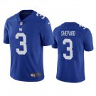 Men's #3 Sterling Shepard New York Giants Royal Vapor Limited Football Jersey Stitched