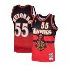 Men's #55 Dikembe Mutombo Atlanta Hawks Scarlet 1996-97 Hardwood Classics Jersey Stitched