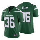 Men's #36 Josh Adams New York Jets Green Vapor Limited Jersey Stitched