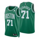 Men's #71 Dennis Schroder Boston Celtics Kelly Green Icon 2021-22 Diamond Jersey 75th Anniversary