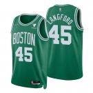 Men's #45 Romeo Langford Boston Celtics Kelly Green Icon 2021-22 Diamond Jersey 75th Anniversary
