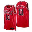 Men's #11 Demar Derozan Chicago Bulls Red Icon 2021-22 Diamond Stitched Jersey 75th Anniversary
