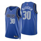 Men's #30 Jaquori Mclaughlin Dallas Mavericks Blue Icon 2021-22 Diamond Jersey 75th Anniversary