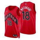 Men's #18 Yuta Watanabe Toronto Raptors Red Icon 2021-22 Diamond Stitched Jersey 75th Anniversary
