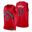 Men's #17 Isaac Bonga Toronto Raptors Red Icon 2021-22 Diamond Stitched Jersey 75th Anniversary