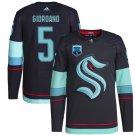 Men's #5 Mark Giordano Seattle Kraken Navy Home 2021-22 Inaugural Season Jersey Stitched