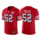 Men's #52 Patrick Willis San Francisco 49ers Red Throwback Limited Jersey 75th Anniversary Stitched