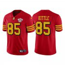 Men's #85 George Kittle San Francisco 49ers Red Throwback Color Rush Jersey 75th Anniversary